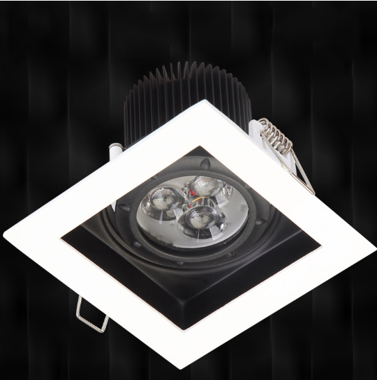 8501,7w squared led <strong>downlight</strong> recessed grille lamp 4 inch cob led <strong>downlight</strong> for hotel restaurant lighting