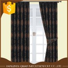 Chenille floral jacquard pattern woven faux silk fabric pleated curtains