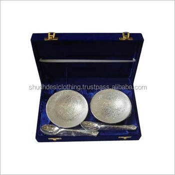 Indian Wedding Gifts For Guests - Decorative Silver Plated Sweet Bowl ...