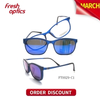 FT0029 Mirror Lens Clip On Sunglasses, Optical Sunglass