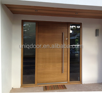 Elegant Modern Front Wooden Doors Solid Wood Door With