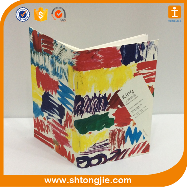 creative design paper perfect binding cheap coloring book printing service