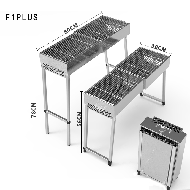 Neue ankunft park bbq grill stehen rechteckige holzkohle grill grill maschine