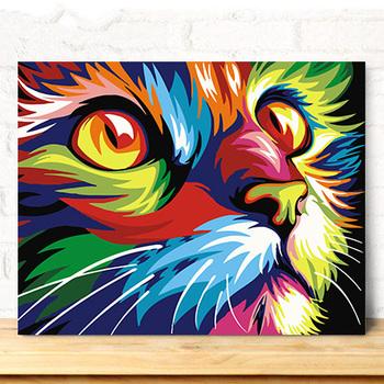 Kedi Yagliboya Ve Numara Kitlerine Gore Boya Yagli Boya Ve Akrilik