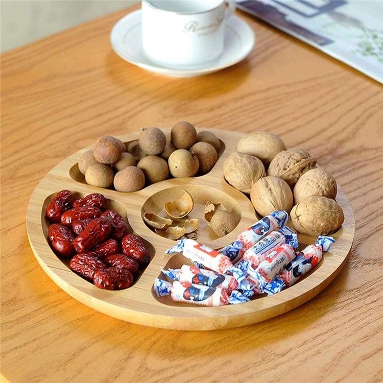 Cheap round wooden serving platters and trays 5