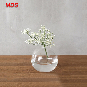 Hot Sale Newest Clear Soccer Ball Flat Round Glass Ball Vase Buy