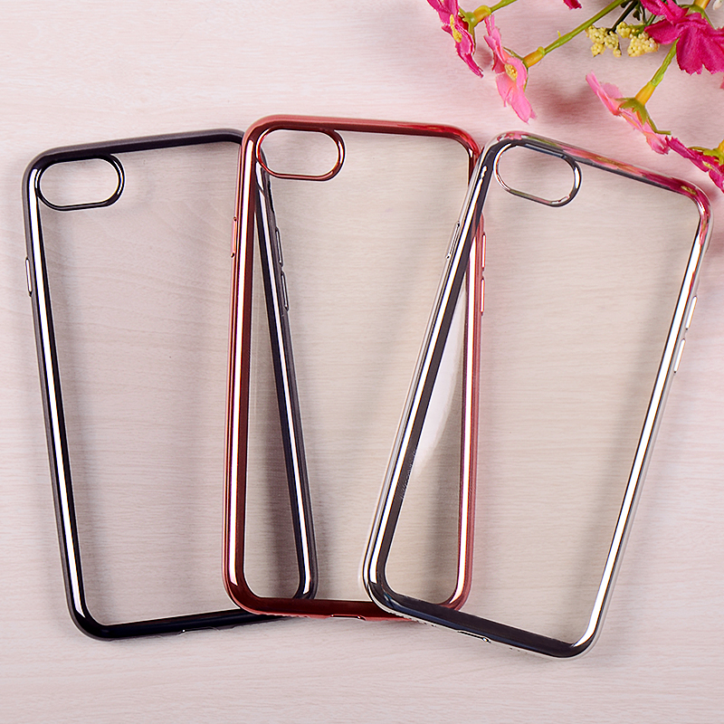 Hot Selling High Quality Electroplate TPU Soft Case For iphone7 7plus Ultra Thin Case