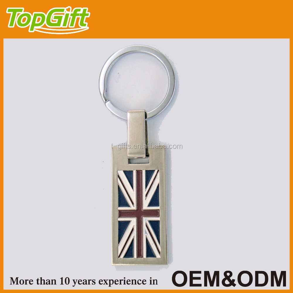 Metal keychain with country flag for London
