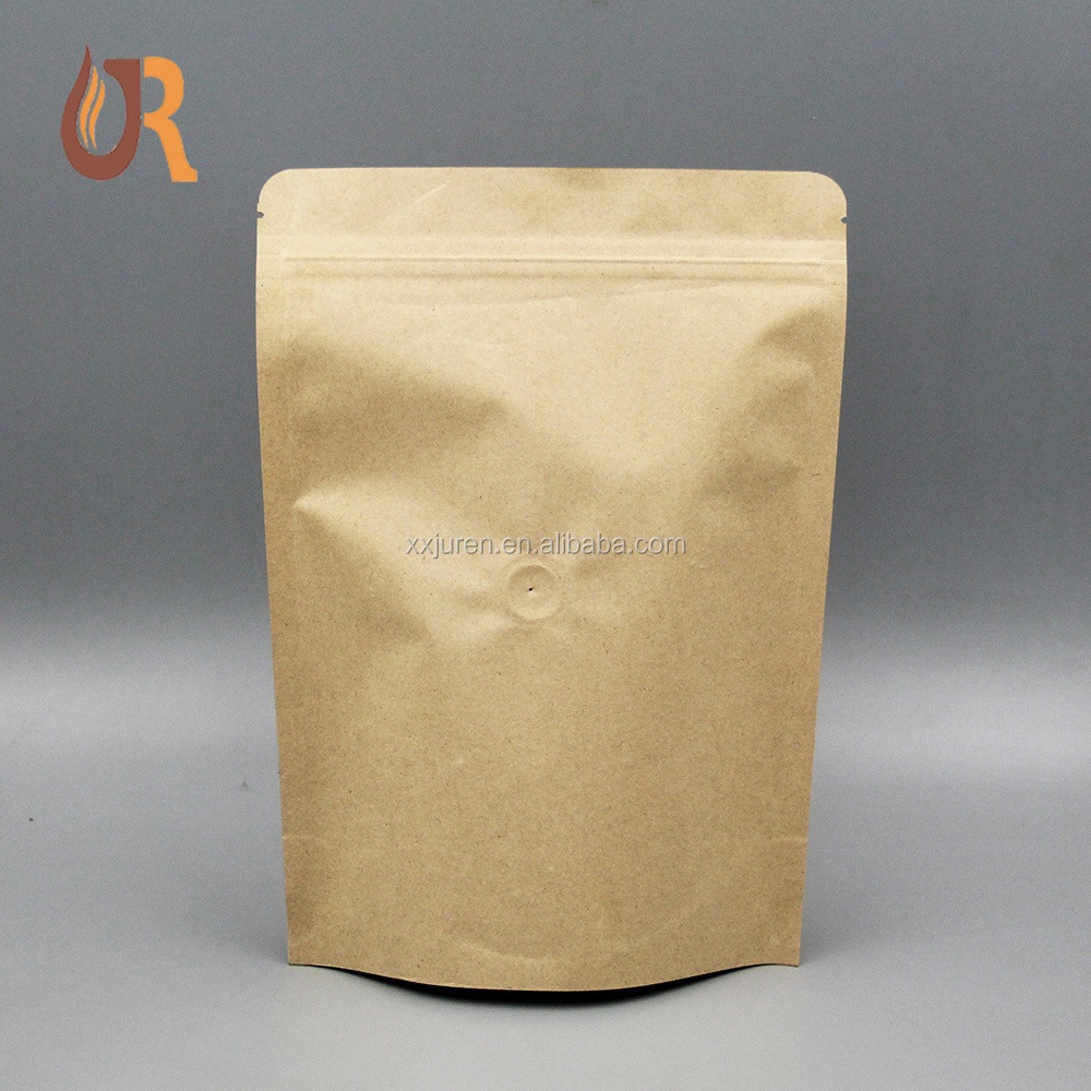 Custom printed plastic aluminum foil kraft paper silver color ziplock mylar bag/ stand up zipper lock food pouch