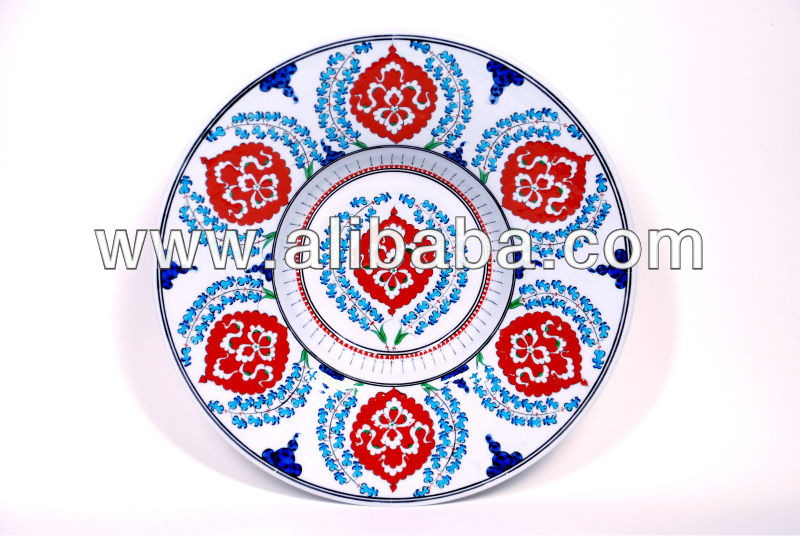 Iznik hand painted ceramic plate high quality