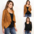 CUSTOM MADE LATEST LADIES USA FAMOUS BRAND DESIGN NEW WESTERN CLASSICAL VINTAGE STYLE COWGIRL FRINGED FAUX SUEDE JACKET