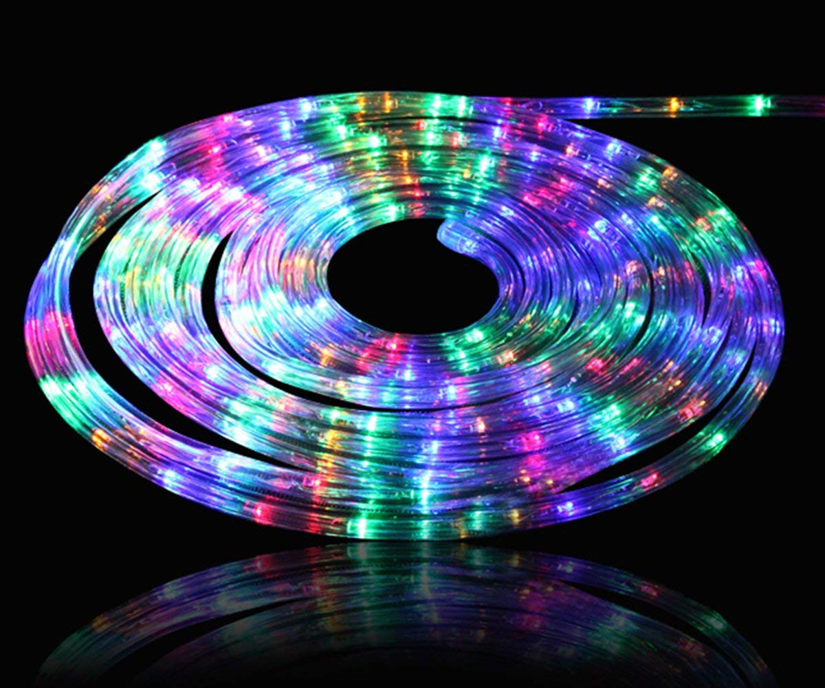 Boshen LED Rope Strip Lights Home Parties Weddings Christmas Decoration, 36 LEDs/3.28FT 110V Flexible Rainbow Tube Light Water Resistant Indoor Outdoor Use (Cuttable Every 3 Feet)