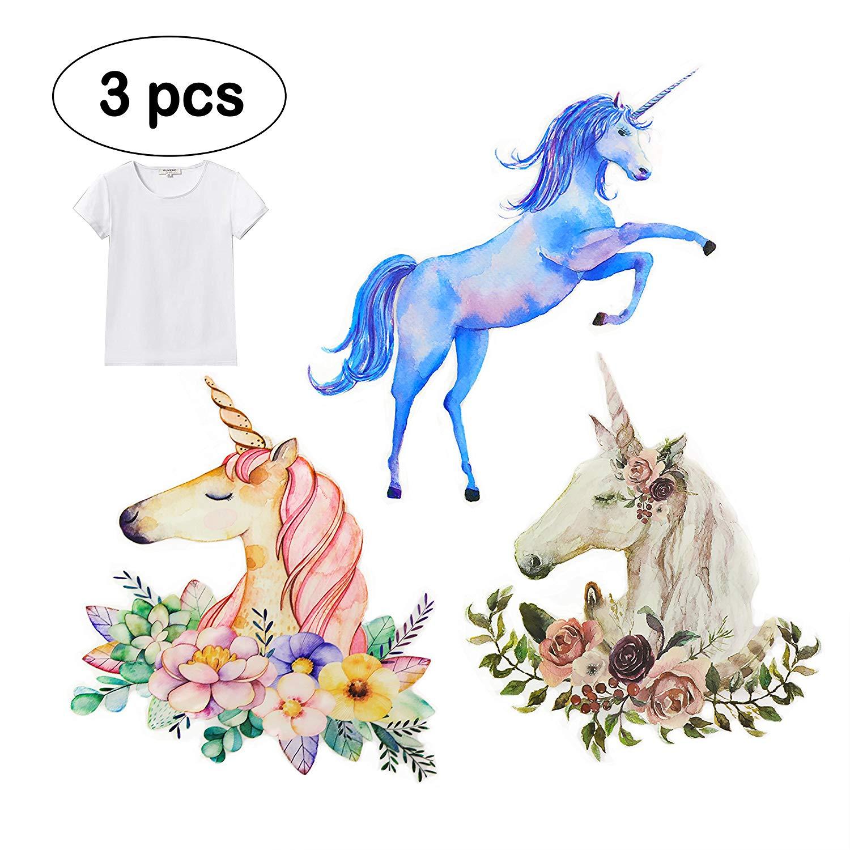 Premium Unicorn Sticker for Clothes T-Shirts & Iron On, DIY Heat Transfer Vinyl (HTV) Stencil Paper Heat Press Painting