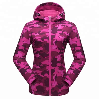 2018 Outdoor Sport Softshell Jackets women Hiking Hunting Clothes Camouflage for Camping windproof