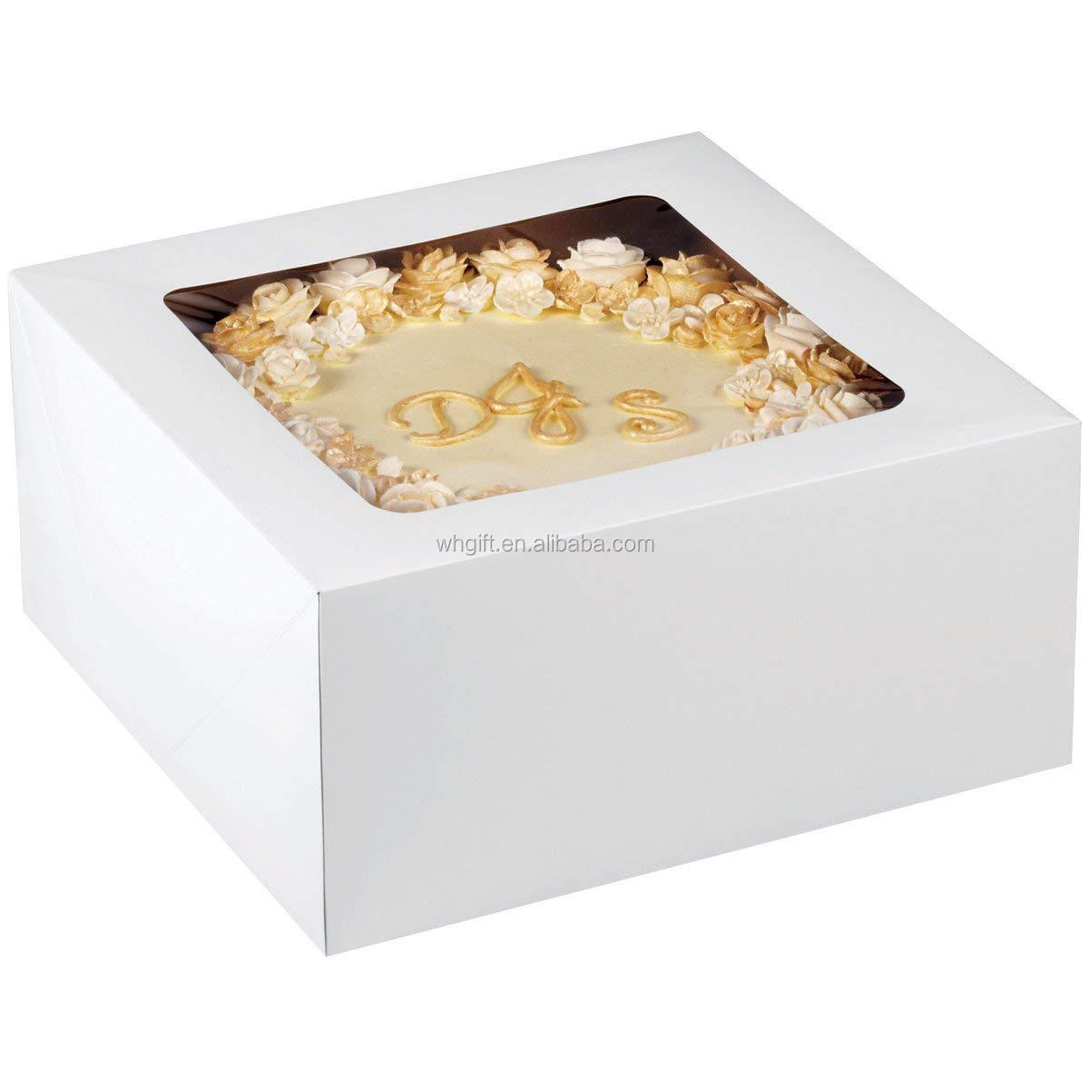 Tamaño personalizado transparente cajas de pastel con ventana