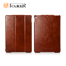 ICARER 2017 Classical Genuine Leather 3-Folding Flip Case for iPad Pro 10.5 inch