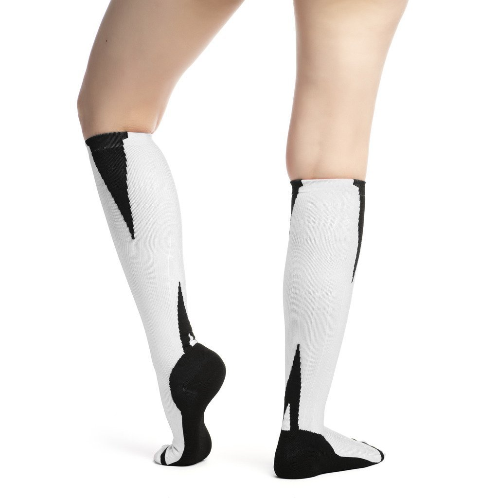 EvoMotion USA Made Compression Socks Men and Women 15-20 mmHg Moderate Graduated Pressure - Medical Grade Athletic Performance and Sports Recovery Support - Best for Shin Splints, Running, Travel, 1 Pair