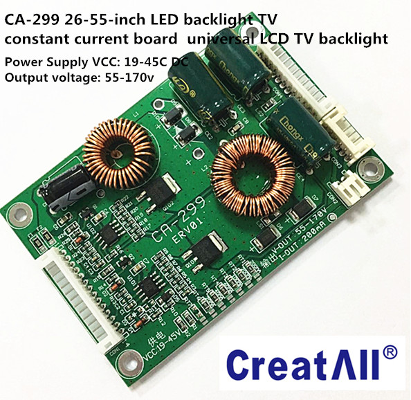 "CA-299 26''-55""inch LED LCD backlight TV constant current inverter PCBA circuit board Led universal driver board"