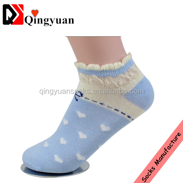 teen young girl colorful dot breathable ankle women lace sport socks