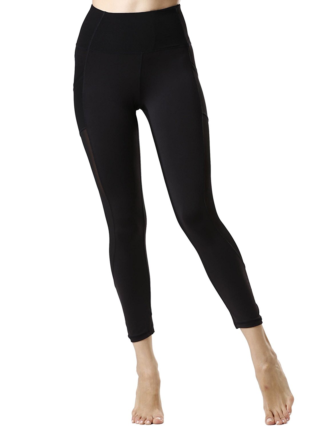 52941820578866 Get Quotations · icyZone Tummy Control Slimming Shaping High Waist Yoga  Tights Leggings with Mesh