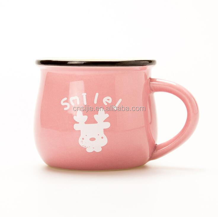 Custom Logo Printed Colorful Ceramic Coffee Milk Mugs