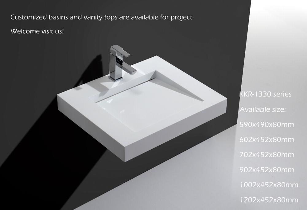 polymer marble wall mounted wash basin  modern design wall hung basin. Polymer Marble Wall Mounted Wash Basin Modern Design Wall hung