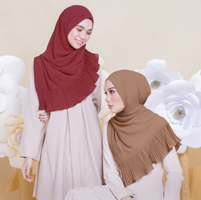 High Quality Abaya Islamic Hijabs for Women Pink Yashmak China Supplier