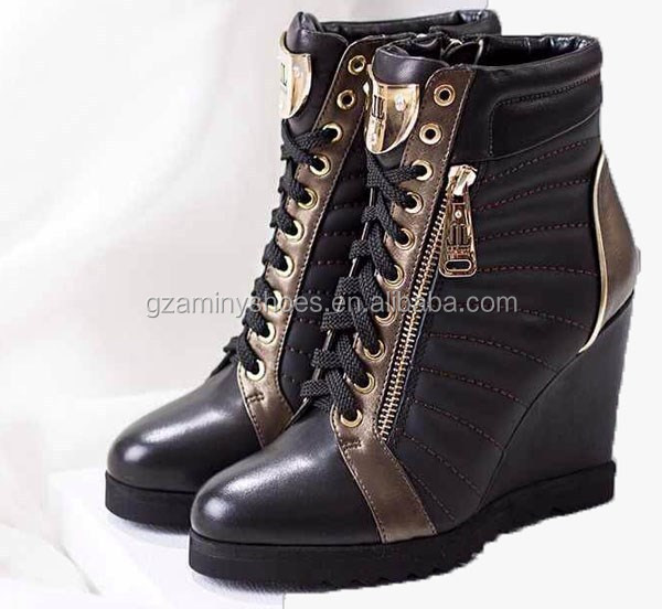 Hottest lace up sneakers wedge Leather ZnSq4YwTF
