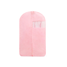 Wholesale Lovely pink polyester oxford Fabric baby kids size suit garment bags for clothing