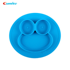 Cunite Easily Clean Heat Resistant Foldable Silicone Baby Placemat Plate