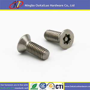 Oukailuo High Quality Tamper Torx Countersunk head Security screw