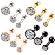 Fancy cz stud ladies earring set wholesale