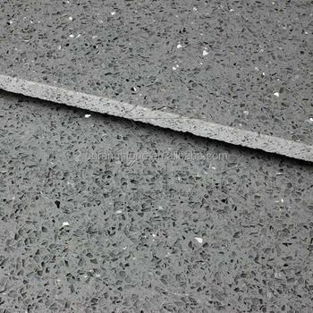 Faux Stone Slabs Grey Sparkle Crystal Quartz Slab