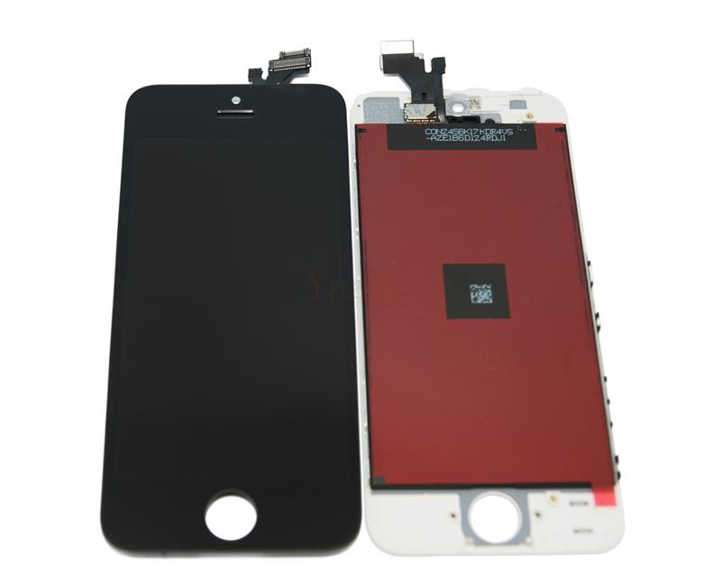 10 шт./лот бесплатные dhl, Для iPhone 5 5 г ассамблея жк-дисплей сенсорный экран с рамкой и держатель камеры -- черный