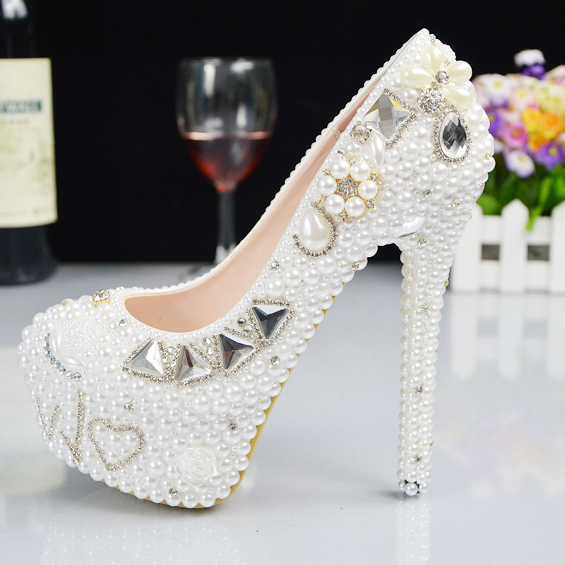 High ZH728B shoes dinner wedding quality Hot women fashion sale pearl high heel ddTrwFqBx
