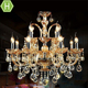 Good Quality Amber Color Metal Chain Adjustable K9 LED Austrian Crystal Chandeliers