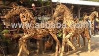 Wooden Horse for garden outdoor decoration