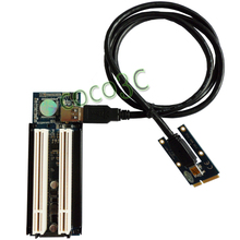 Mini PCIe To 2 PCI slots adapter for mini ITX motherboard mini PCI express to PCI riser card for Sound, Network, graphics card