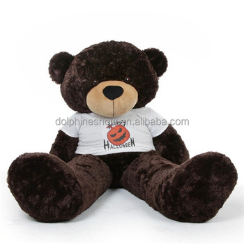 cbb36ec1868 Cheap Cute big huge plush toy dark brown teddy bear Custom cartoon stuffed  soft 300cm teddy
