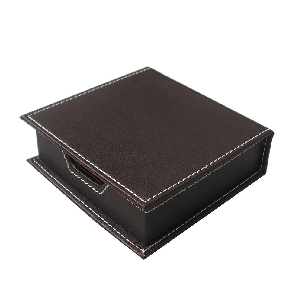 Business Custom Handmade Leather Memo Box Leather Note Card Holder