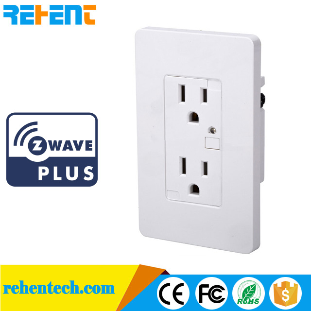 Z-Wave Electrical Wall Outlet Wi-Fi Sockets home automation
