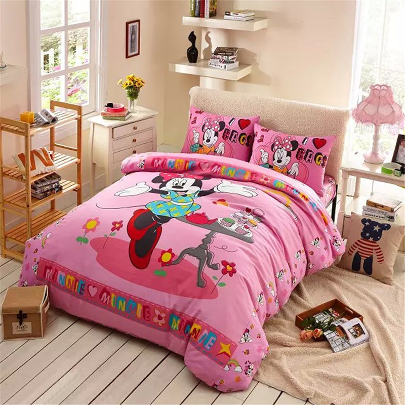 sweet cakes minnie mouse bed set girl baby bedding cheap