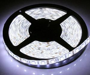 TINNZTES 2M/200CM/6.6feet 120LED 3528 LED strip Light Battery powered waterproof LED strip (White)