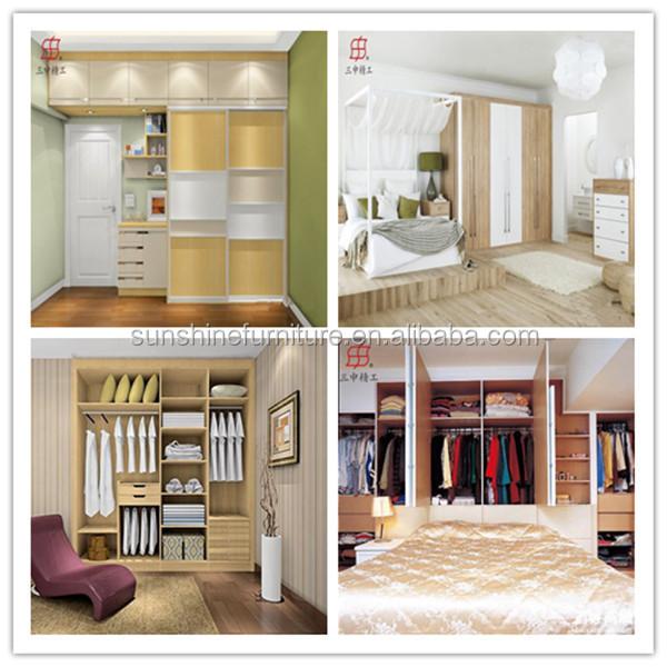 Modern Wooden Latest Simple Double Door Open Wardrobe DesignBuy