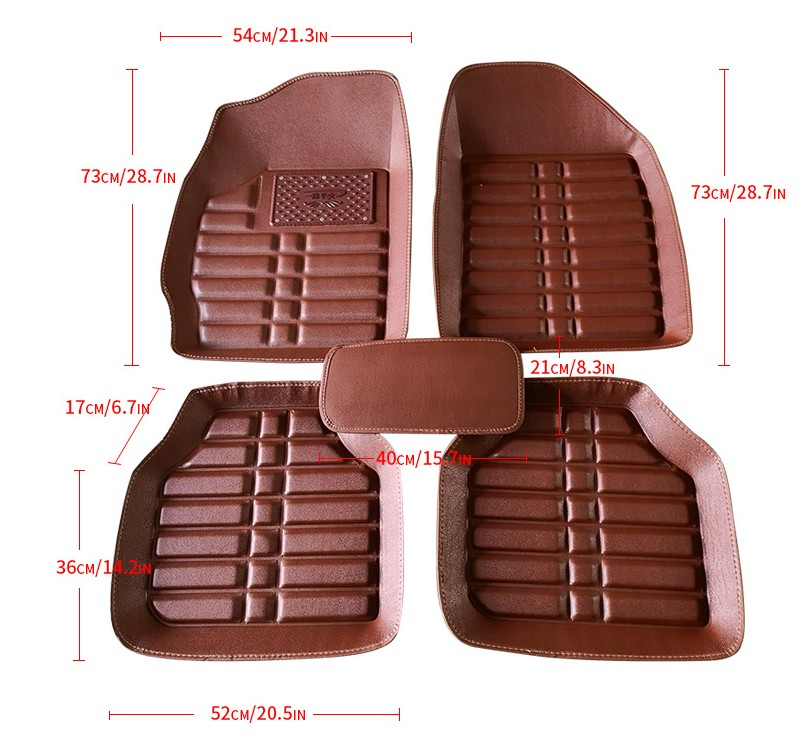 Car Universal Floor Mat 3D Deep Dish Matting 5pcs/set Leatherette wholesale non slip carpet mats car