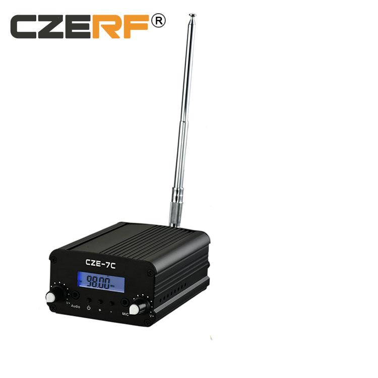 CZE-7C 1W/7W wireless Radio Station Low Power audio amplifier broadcast FM Transmitter