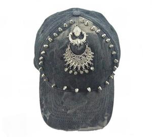 Promotional custom cool baseball snap back caps with decorative rivet aaa320945737