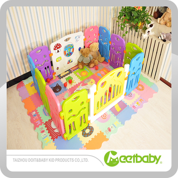 Portable Plastic Baby Play Yard Fencing Baby Gate Protective Play
