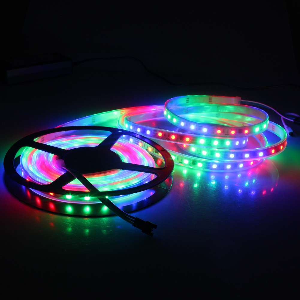 5m 60leds smd 5050 remote controlled battery operated rechargeable light rgb 5630 led strip