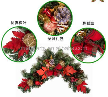 new year hot sell red decorative vinegarland artificial christmas vine decoration
